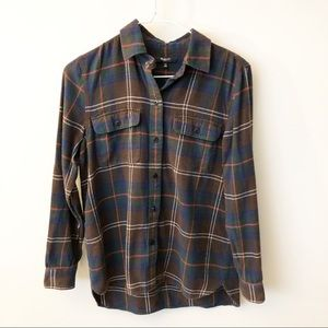{Madewell} Brown Plaid Button Down